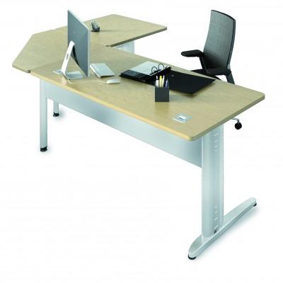 bureau droit corial 180x80 angle 90 retour 80x80. Black Bedroom Furniture Sets. Home Design Ideas