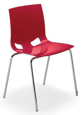 chaise 4 pieds fondo coque polypropyl ne chrome lot de 4. Black Bedroom Furniture Sets. Home Design Ideas