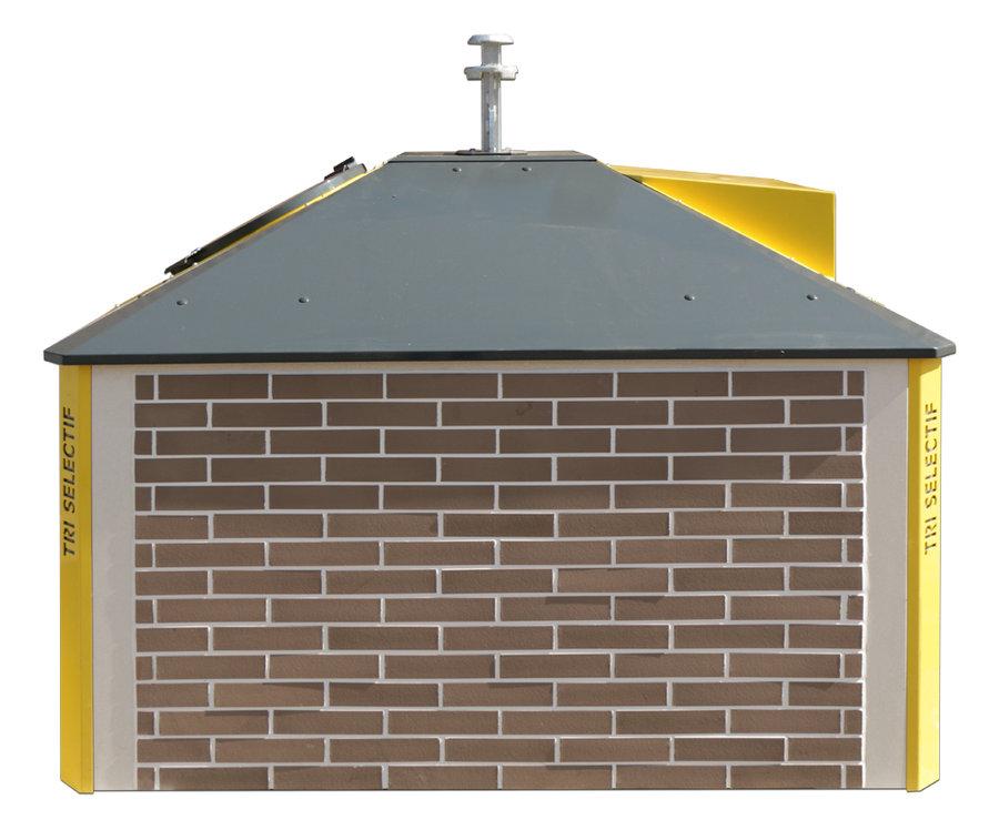 Colonne semi enterr e carr e 3 m avec habillage brique p 1 cm - Habillage colonne beton ...