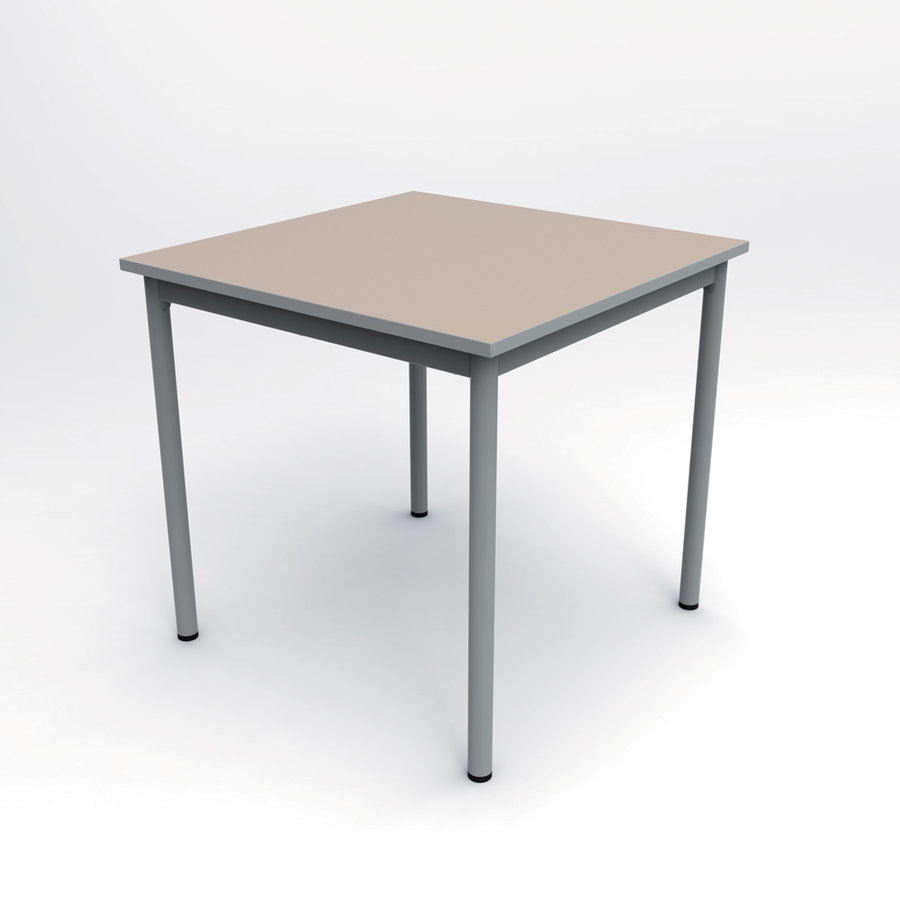 Table carr e compo 80 x 80 cm pi tement poxy for Table 80 x 80