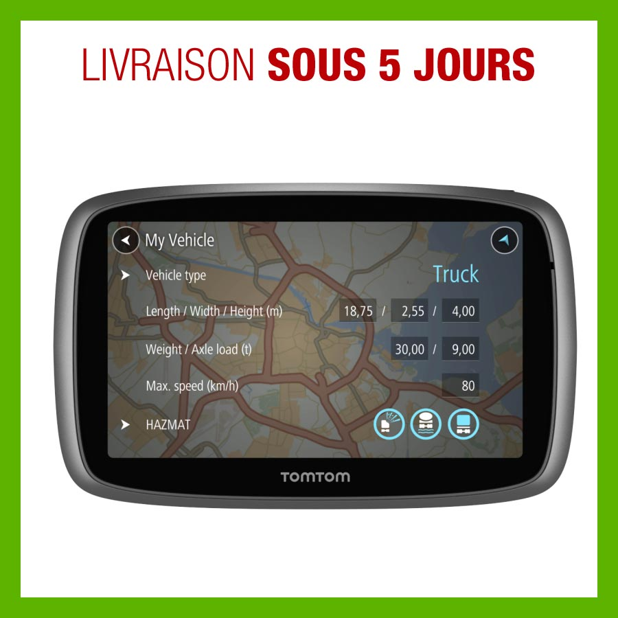 gps tomtom trucker 5000 pour poids lourd. Black Bedroom Furniture Sets. Home Design Ideas