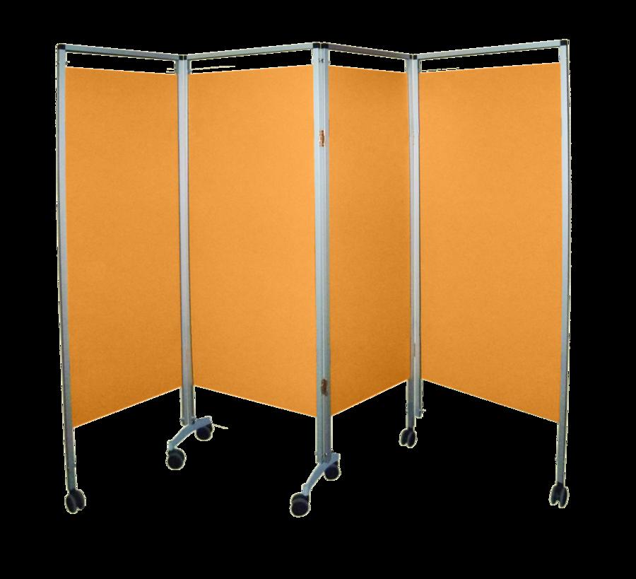 paravent 4 panneaux 222 x 167 5 cm rideaux vinyles hauteur 146 5 cm 7 roulettes. Black Bedroom Furniture Sets. Home Design Ideas