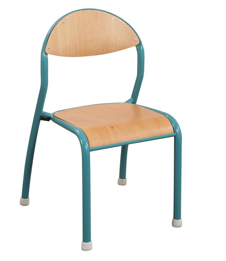 chaise rond 39 o antibruit t4 pi tement bleu vert r cif lot de 4. Black Bedroom Furniture Sets. Home Design Ideas