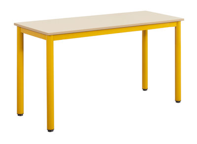 Table car lie 130x50 cm t6 plateau m lamin beige pyla for Bureau 130x50