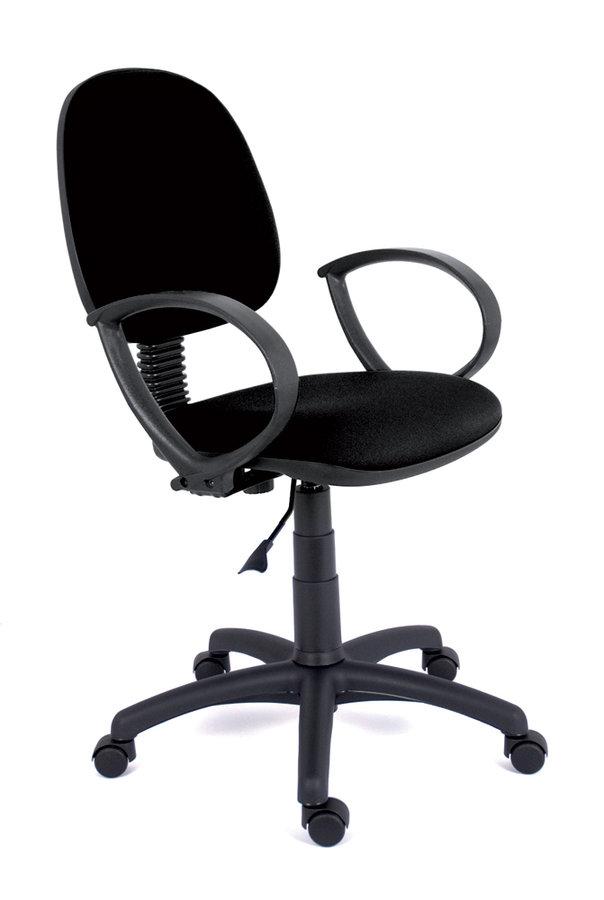 fauteuil de bureau saturn tissu noir roulettes sol dur. Black Bedroom Furniture Sets. Home Design Ideas