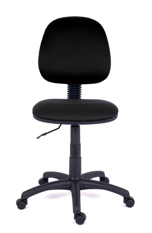 chaise de bureau saturn tissu noir roulettes sol dur. Black Bedroom Furniture Sets. Home Design Ideas