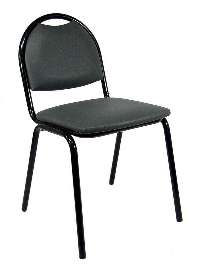 chaise 4 pieds arioso tissu noir pi tement noir empilable lot de 4. Black Bedroom Furniture Sets. Home Design Ideas
