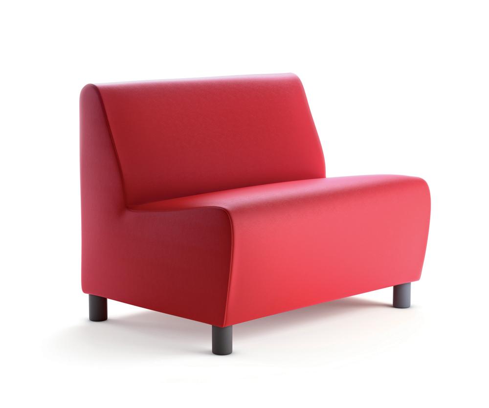 banquette 2 places yola simili cuir groseille. Black Bedroom Furniture Sets. Home Design Ideas