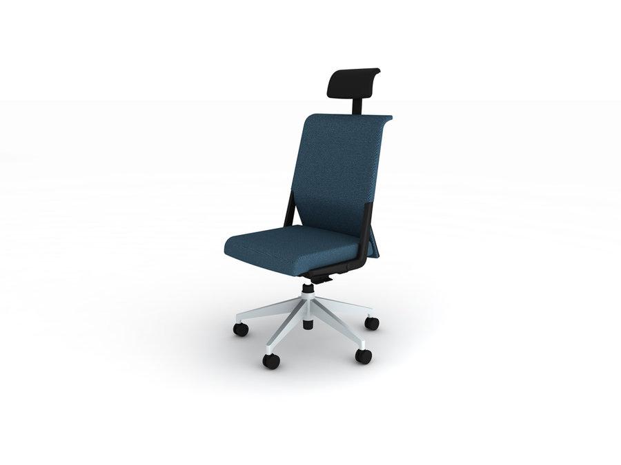 Chaise de bureau comforto tissu avec appui tête