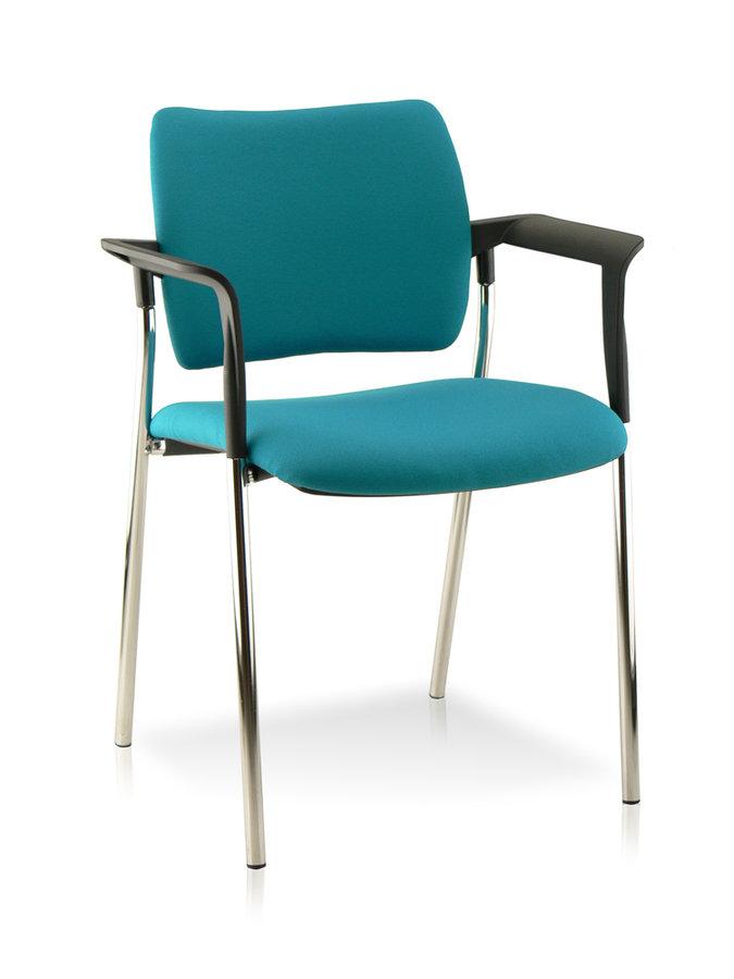fauteuil visiteur 4 pieds lorena tissu pi tement chrome lot de 2. Black Bedroom Furniture Sets. Home Design Ideas