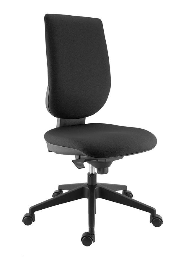 chaise de bureau tertio s tissu noir panth re 009 roulette pour sol dur. Black Bedroom Furniture Sets. Home Design Ideas