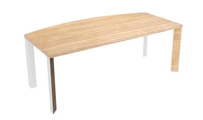 bureau courbe brillance 200x80 100 pi t chrome bois. Black Bedroom Furniture Sets. Home Design Ideas