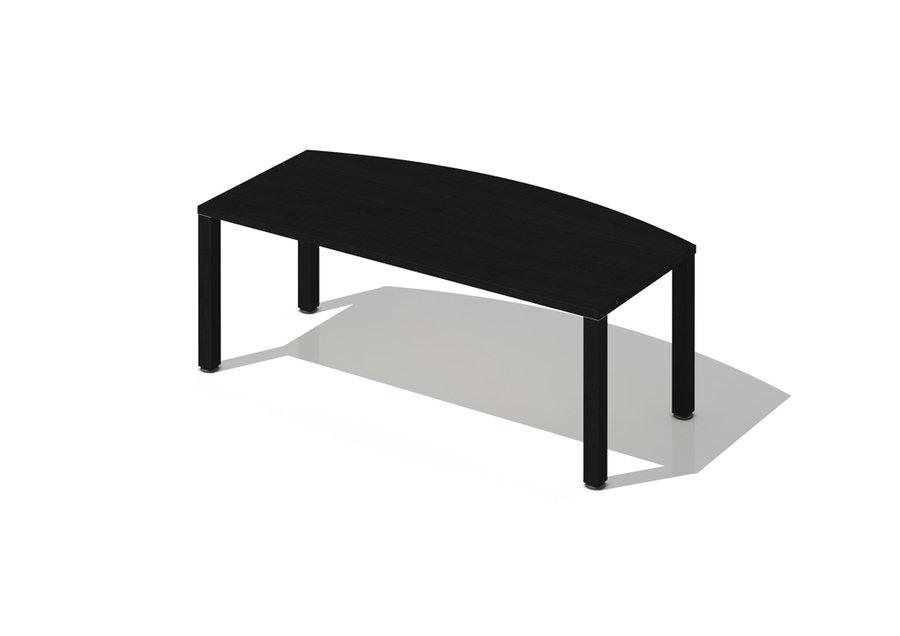 bureau courbe brillance 200x80 100 pi t bois. Black Bedroom Furniture Sets. Home Design Ideas