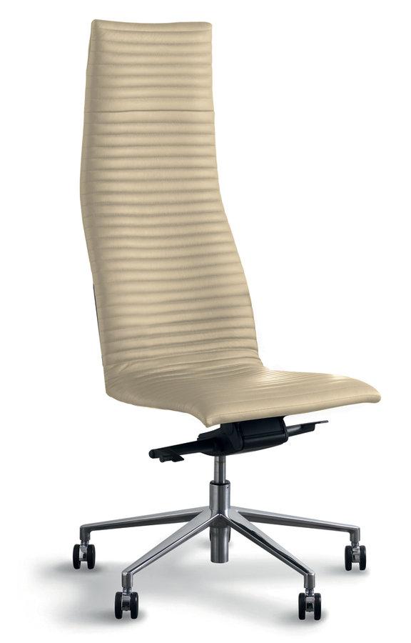 chaise de bureau cambridge cuir pi t aluminium poli. Black Bedroom Furniture Sets. Home Design Ideas