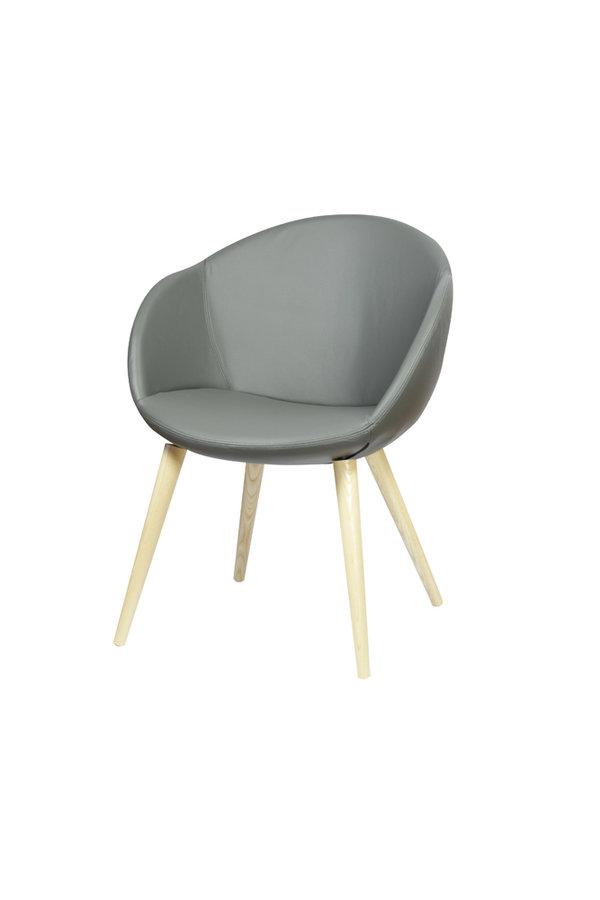 fauteuil 4 pieds bois evy cuir unicolore. Black Bedroom Furniture Sets. Home Design Ideas