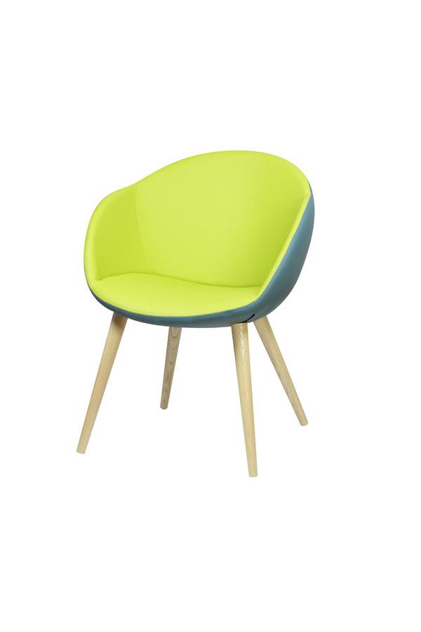 fauteuil 4 pieds bois evy textile enduit uni bicolore. Black Bedroom Furniture Sets. Home Design Ideas