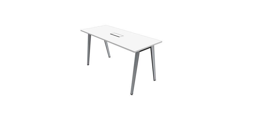 Table Haute B Free 200 X 80 Pi Tement M Tallique Avec Trappe Affleurante Et Goulotte
