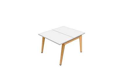 Mélaminé Table 100x120 Free Piétement B Bois EHI9WD2Y