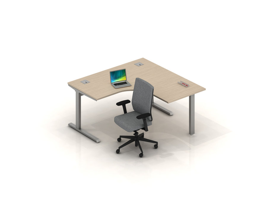 bureau compact 90 sym trique inn o 160x80. Black Bedroom Furniture Sets. Home Design Ideas