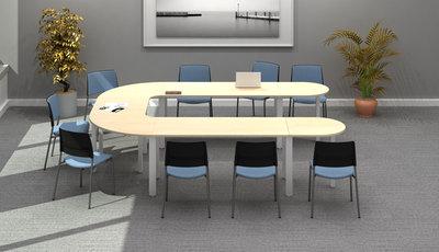 Table de réunion en u places innéo pieds