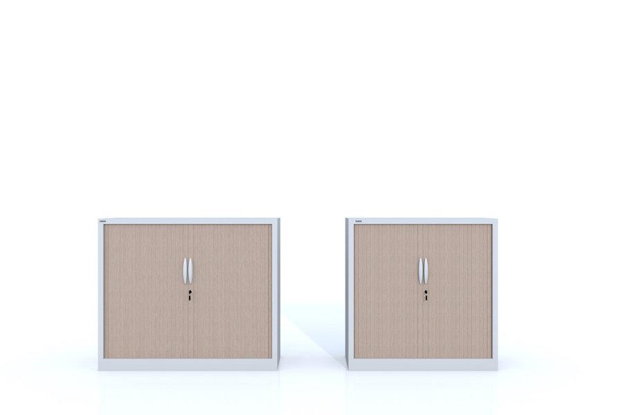 Armoire métallique Innéo - 102x120 - 3 tablettes - décor bois ...