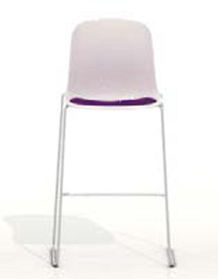 chaise haute moon coque plastique pi tement chrom. Black Bedroom Furniture Sets. Home Design Ideas