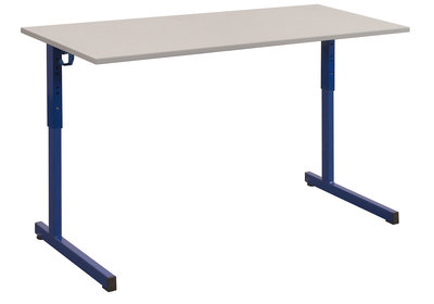 Table doga 130x50 cm r glable gris nimbus bleu chants for Bureau 130x50