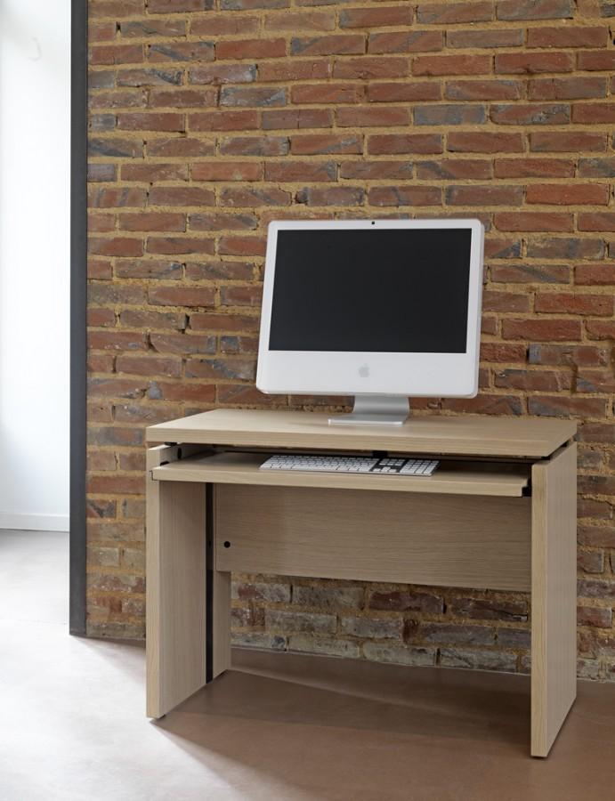 Table informatique amphit o 100x50 avec tablette for Bureau 100x50