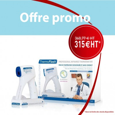 Offre délai court -Thermoflash VISIOMED - kit complet (thermomètre + base + alimentation)