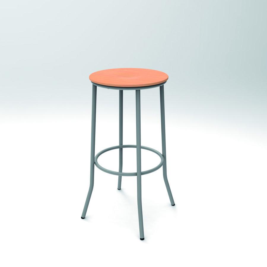 tabouret haut zen h 81 cm 4 pieds assise bois. Black Bedroom Furniture Sets. Home Design Ideas