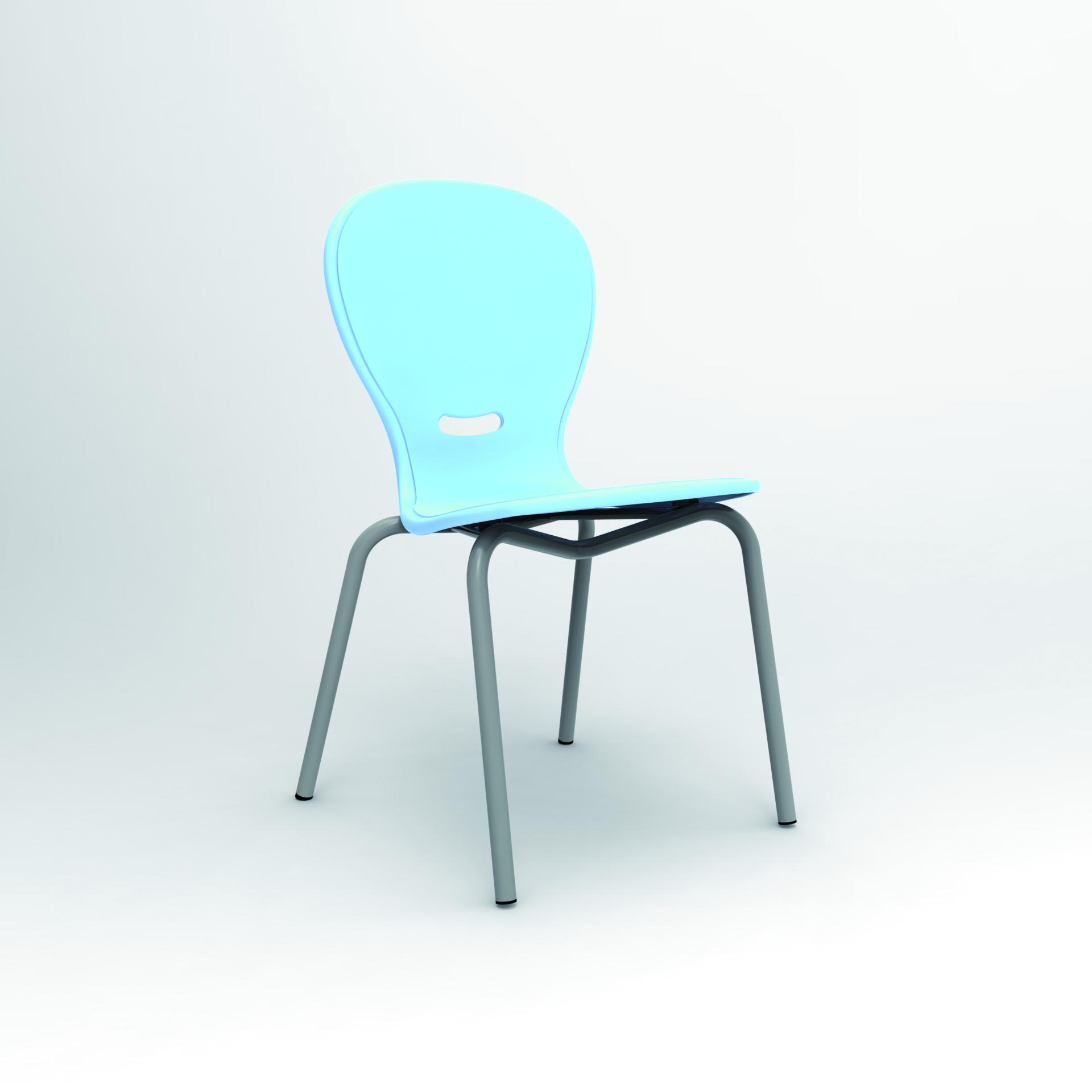 chaise 4 pieds nota coque en polypropyl ne. Black Bedroom Furniture Sets. Home Design Ideas