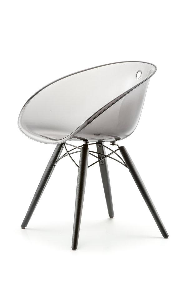 chaise 4 pieds gliss 905 coque rsine transparente pitement bois - Chaise Transparente Pied Bois
