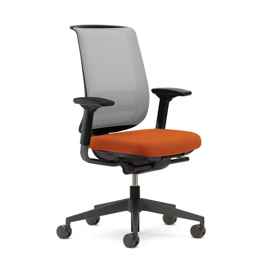 fauteuil de bureau reply air assise tissu dossier r sille. Black Bedroom Furniture Sets. Home Design Ideas