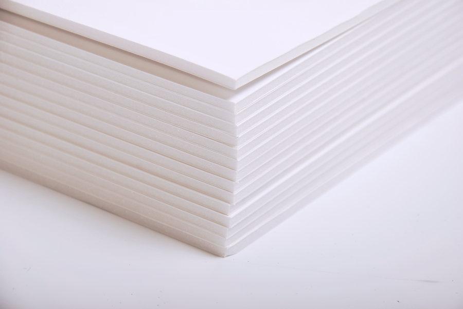 cartons mousse 3mm a3 blanc lot de 15. Black Bedroom Furniture Sets. Home Design Ideas