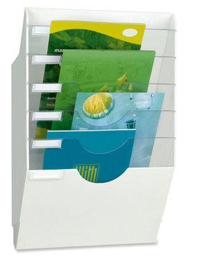 trieur pr sentoir mural 6 pochettes blanc cep. Black Bedroom Furniture Sets. Home Design Ideas