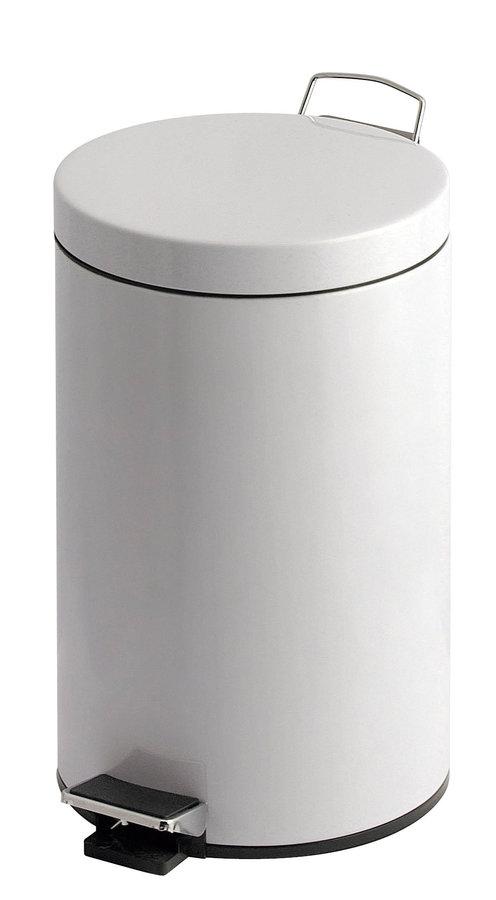 poubelle 20 litres p dale acier poxy blanc 591501. Black Bedroom Furniture Sets. Home Design Ideas