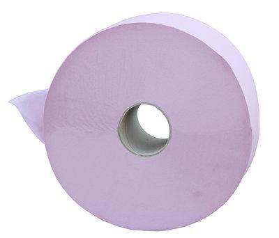 Papier Toilette En Bobine L 600 M Crêpe Rose 1 Pli 5 Cartons