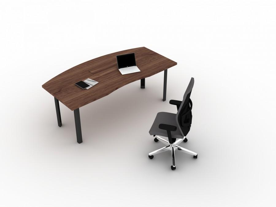 bureau droit ergonomique placage bois epure manager. Black Bedroom Furniture Sets. Home Design Ideas