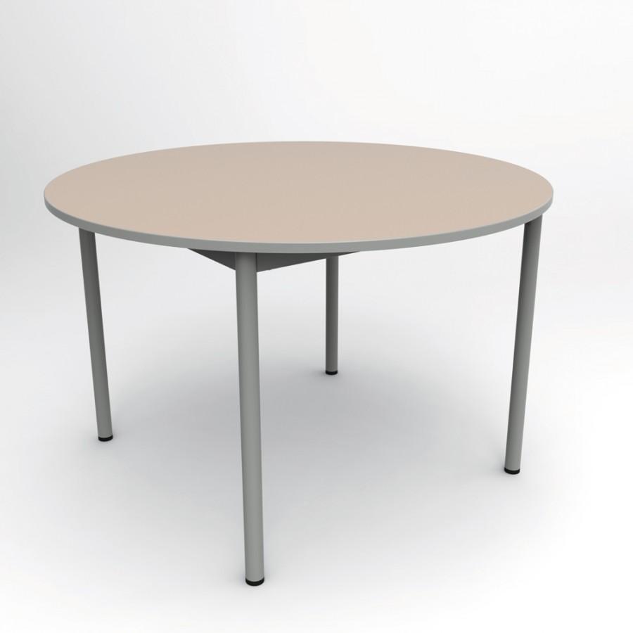 table ronde compo 120 cm pi tement poxy plateau m lamin. Black Bedroom Furniture Sets. Home Design Ideas
