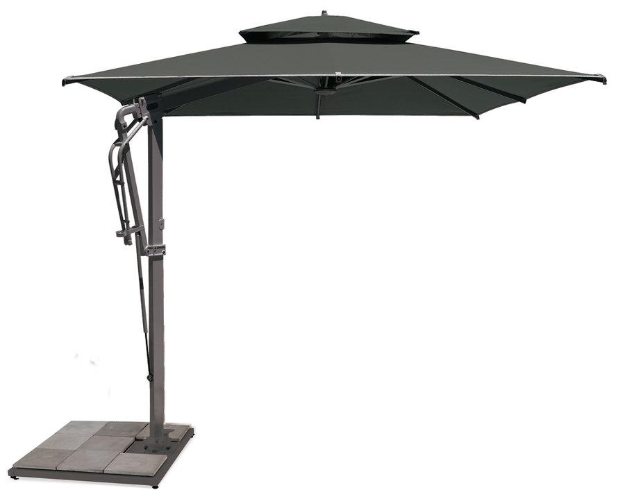 socle carr l 95 cm pour parasol m t d port pagoda. Black Bedroom Furniture Sets. Home Design Ideas