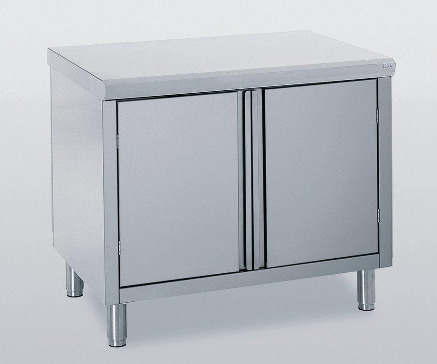 meuble de rangement bas inox 2 portes battantes l 80 x h 90 pr 70 cm. Black Bedroom Furniture Sets. Home Design Ideas