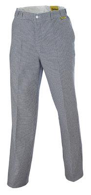 Pantalon de cuisinier mixte pied de poule polycoton molinel - Pantalon de cuisine molinel ...
