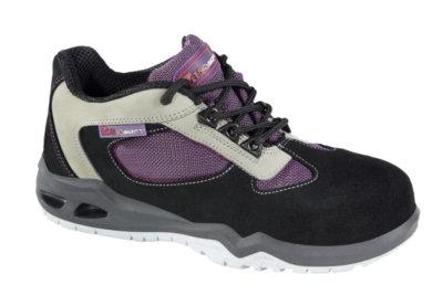 Chaussures de sécurité femme basses spécial atelier d' imprimerie type sport Aureli Flex S3 MTS croupon velours