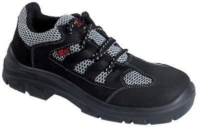 Chaussures Marin Flex S1P MTS tige cuir vachette gris noir pleine fleur nubuck graissé maille 3D hyper respirante