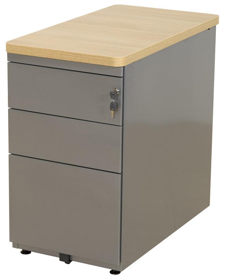 Caisson hauteur bureau evidence 2 tiroirs plats et 1 tiroir dossiers suspendus - Caisson 2 tiroirs dossiers suspendus ...