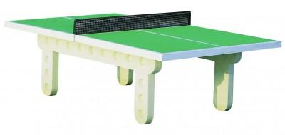 a246c9822c11af Table de ping-pong béton avec filet en acier laqué livré en kit - déchargé  dans la limite de 30 m