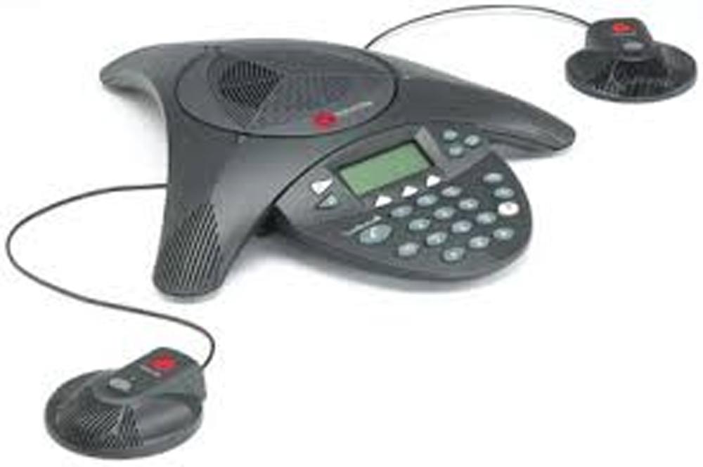 syst me audioconf rence analogique polycom soundstation 2 evolutive kit micros. Black Bedroom Furniture Sets. Home Design Ideas