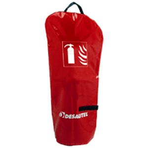 Housse rouge pour extincteur 6 9 litres et 6 9 kg for Housse extincteur