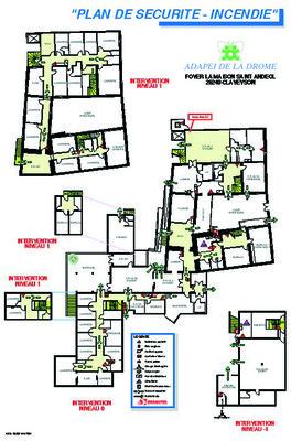 plan d 39 intervention avec cadre format standard plastifi avec cadre alu 40 x 60 cm. Black Bedroom Furniture Sets. Home Design Ideas