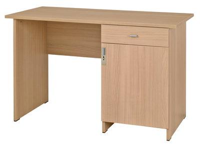 Bureau avec tiroir et caisson avec porte kumyos cm